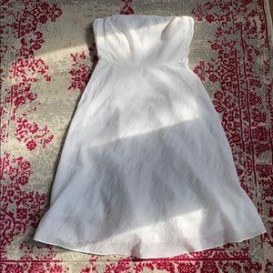Strapless J. Crew Seersucker Dress
